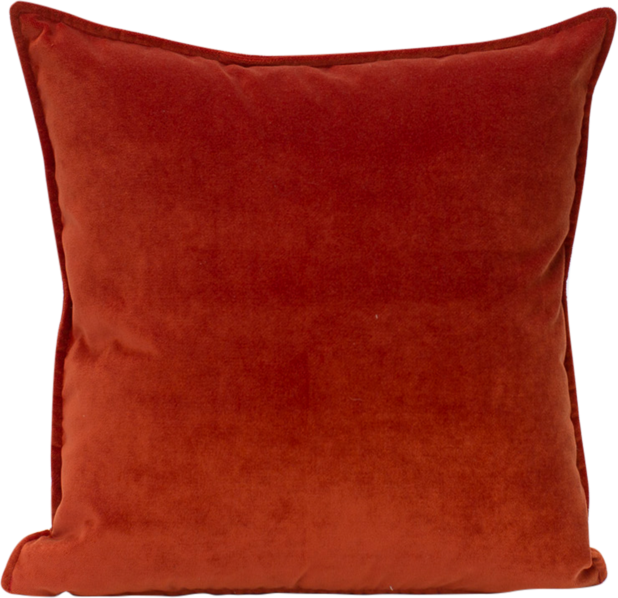 Terracotta velvet cushion